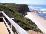 Aireys Inlet / Lighthouse at Split Point and coastal views / View north along coast, Lighthouse Road at Federal Street