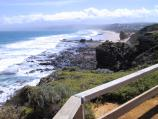 Aireys Inlet / Lighthouse at Split Point and coastal views / View west along coast to Fairhaven from Lighthouse