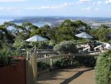 Arthurs Seat / Arthurs Hotel at mountain peak / Arthurs Hotel sundeck and views in background