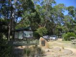 Arthurs Seat / Other attractions at the peak / Information board and sign near lookout tower