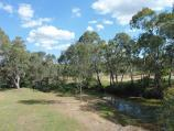 Avoca / Lions Park, Pyrenees Highway at Avoca River / View south along Avoca River through the park