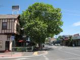 Bacchus Marsh / Shops and commercial centre, Main Street / The Border Inn, view west along Main St at Graham St