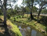 Bacchus Marsh / Werribee River / View west along Werribee River at Grant St