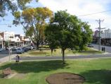 Bairnsdale / Commercial centre and shops / View west from Rotunda along Main St
