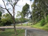 Bairnsdale / Mitchell River at Port of Bairnsdale, Riverine Street / View east along gardens towards river
