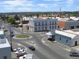 Ballarat / Armstrong Street area / View from Central Square rooftop car park, east along Dana St towards Armstrong St