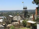 Ballarat / Sovereign Hill, Bradshaw Street / View down towards gold mine from cottages