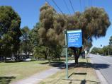 Beaumaris / Concourse Shopping Centre, off Reserve Road / View south along Reserve Rd at park in front of shopping centre