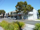 Beaumaris / Shops at junction of Beach Road and Keys Street / Shops along south side of Keys St near Tramway Pde