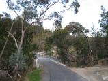 Beechworth / Gorge Road scenic drive / View south-east along Gorge Rd towards bridge at Spring Creek