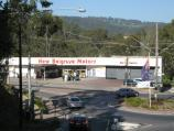 Belgrave / Shops and commercial centre, Main Street and Bayview Road / View east towards New Belgrave Motors from Terrys Av at Main St