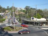 Belgrave / Belgrave Town Park and views, corner Monbulk Road and Terrys Avenue / View south-east along Gembrook Rd