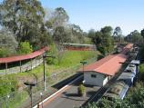 Belgrave / Belgrave railway station, south side of Bayview Road / View towards station from Gembrook Rd