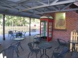 Belgrave / Puffing Billy railway station, north side of Bayview Road / Seating at station cafe