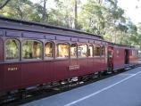 Belgrave / Puffing Billy railway station, north side of Bayview Road / Train carriages at station
