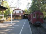 Belgrave / Puffing Billy railway station, north side of Bayview Road / View along platform towards station