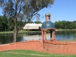 Benalla / Lake Benalla, around Bridge Street / View from Ceramic Mural, west across Lake Benalla towards Art Gallery