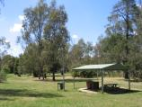 Benalla / Lake Benalla, southern section around Council Offices and Jaycee Island / BBQ shelter, Jaycee Island