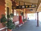 Benalla / Benalla railway station and surroundings / Platform at station