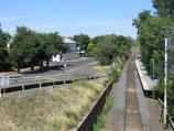 Benalla / Benalla railway station and surroundings / View west along XPT line from bridge across railway
