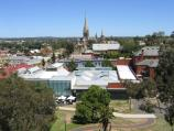 Bendigo / Poppet Head lookout, Rosalind Park / View south-west towards art gallery and Sacred Heart Cathedral