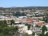 Bendigo / Poppet Head lookout, Rosalind Park / View south towards High St at View St