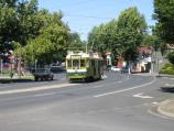 Bendigo / High Street / Tram, view south-west along High St at Wattle St