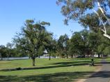 Bendigo / Lake Weeroona / View through parkland beside lake along Napier St
