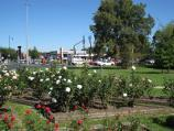 Berwick / Commercial centre and shops, High Street / Rose garden, corner High St and Lyall Rd