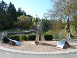 Berwick / Wilson Botanic Park / 'Still Moment' sculpture at southern end of Anniversary Lake