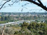 Berwick / Wilson Botanic Park / View south-west towards Princes Hwy and Monash Fwy from path near playground