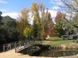 Bright / Howitt Park, Centenary Park, Ovens River / Footbridge across Morses Creek, Centenary Park