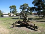 Broadford / North side of High Street between Murchison Street and Sunday Creek / Old military machine gun at park in front of post office