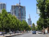 Carlton / Lygon Street, commercial centre and restaurants / View south along Lygon St between Queensberry St and Victoria St