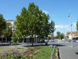 Carlton / Argyle Square and Piazza Italia, Lygon Street and Argyle Place North & South / View east through Argyle Square towards Lygon St and Pelham St