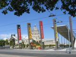 Carlton / Melbourne Museum, Carlton Gardens / IMAX theatre with museum main entrance in background