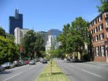 Carlton / Rathdowne Street / View south along Rathdowne St towards Victoria St