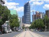 Carlton / Lincoln Square, between Swanston Street and Bouverie Street / View south along Swanston St from Lincoln Square