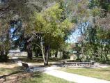 Clunes / Queens Park, Ligar Street / South-east view through park towards fountain