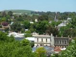 Clunes / Esmond Park, Scenic Drive / Southerly view from lookout across shops along Fraser St