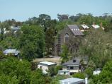 Clunes / Esmond Park, Scenic Drive / South-westerly view from lookout towards Catholic Church on Bailey St