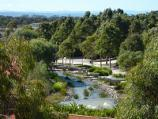 Cranbourne / Australian Garden at Royal Botanic Gardens Cranbourne / View from visitor centre towards Rockpool Waterway
