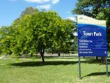 Croydon / Town Park, Mt Dandenong Road, Civic Square and Norton Road / Town Park sign, corner Mt Dandenong Rd and Norton Rd