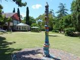 Croydon / Wyreena Community Arts Centre, Hull Road / A-Spire ceramic totem pole near cafe