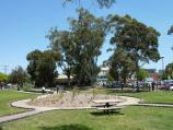 Dandenong / Pioneer Memorial Gardens, Stuart Street / View through gardens towards library