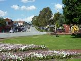 Dandenong / Dandenong Park, Foster Street and Pultney Street / North-easterly view through park towards Foster St