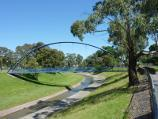 Dandenong / Rotary Park, Lonsdale Street / View north-west along Dandenong Creek towards footbridge