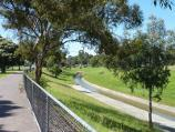 Dandenong / Rotary Park, Lonsdale Street / View south-east along Dandenong Creek near footbridge