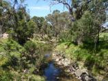 Dandenong / Greaves Reserve, Bennet Street / View along Mile Creek from footbridge
