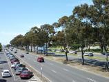 Dandenong / Princes Highway north-west of Clow Street / View south-east along Princes Hwy from footbridge at John Hemmings Memorial Park